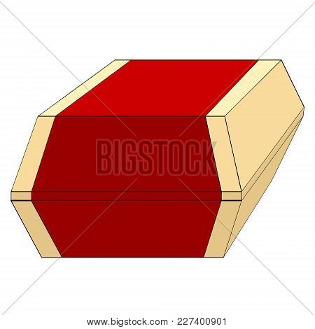 Burger Box Or Packing Vector Illustration. Object Of Fast Food On A White Background