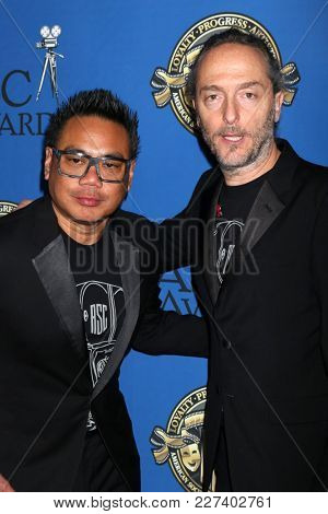 LOS ANGELES - FEB 17:  Matthew Libatique, Emmanuel Lubezki at the 32nd American Society of Cinematographers Awards at Dolby Ballroom on February 17, 2018 in Los Angeles, CA