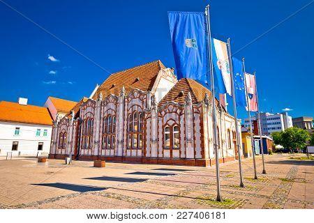Baroque Architecture Of Cakovec Main Square, Medjimurje Region Of Croatia