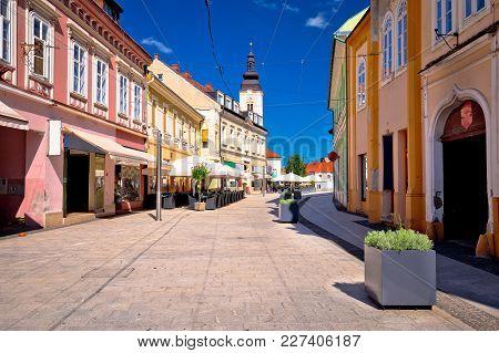 Town Of Cakovec Main Street View, Medjimurje Region Of Croatia