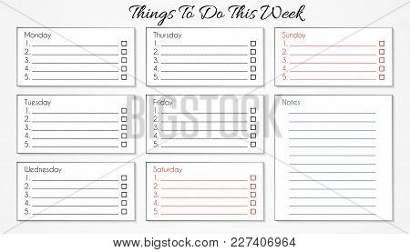 To Do List For This Week, Business Concept
