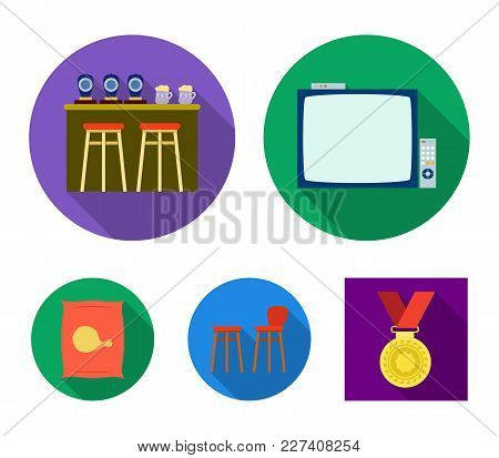Bar, Pub, Restaurant, Cafe .pub Set Collection Icons In Flat Style Vector Symbol Stock Illustration