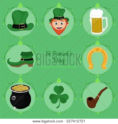 Beautiful Vector St Patrick's Day Element Collection