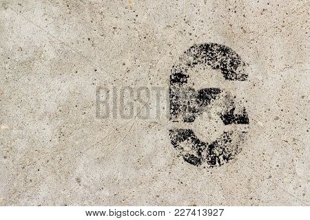 Number Six 6 On Concrete Wall Background