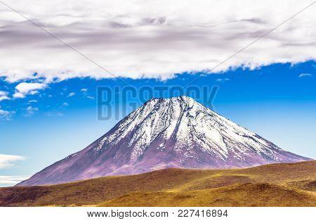 View On Volcano Licancabur At The Border Of Chile An Bolivia
