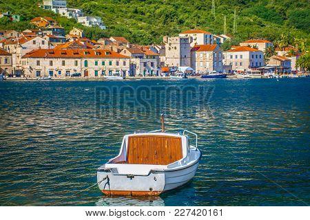 Scenic View At Picturesque Historic Town Vis In Dalmatia Region, Croatia, European Travel Destinatio