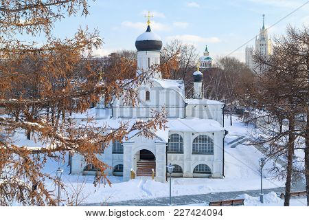Moscow, Russia, February 01, 2018: View On The Church Of The Conception Of Anna