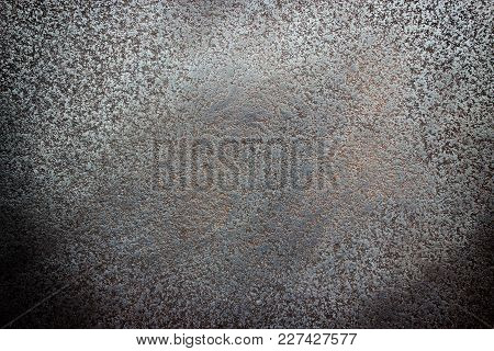 Black Steel Sheet Texture, Dark Background Of Worn Metal