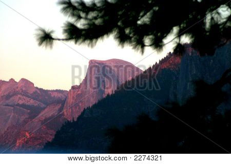 Half Dome At Twilight'S Last Gleaming