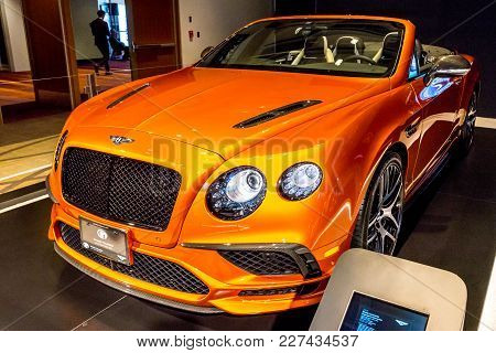 February 15, 2018. Toronto, Canada: Presentation Of Bentley Continental  Car During The 2018 Canadia