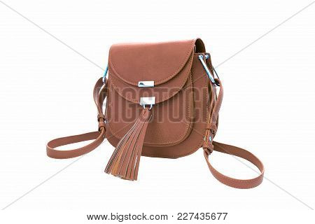Beautiful Women's Handbag Isolated On A White Background.