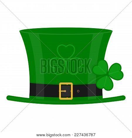 Green Leprechaun Hat On White