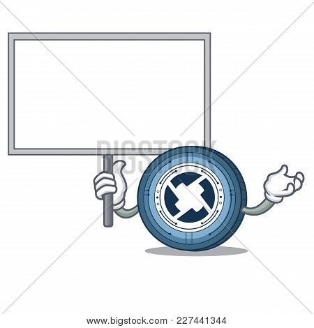 Bring Board 0x Coin Character Cartoon Vector Illustration