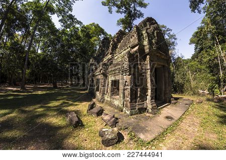 Siem Reap Angkor Wat Preah Khan Is A Temple At Angkor, Cambodia, Built In The 12th Century For King