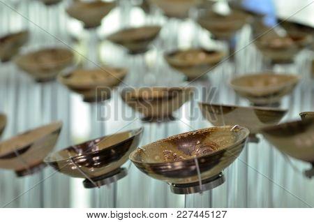 Antique Porcelain Bowls Displayed In Local Musuem