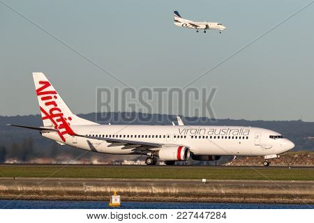 Sydney, Australia - May 5, 2014: Virgin Australia Airlines Boeing 737-800 Aircraft At Sydney Airport