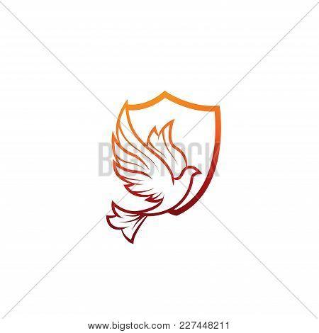 Bird Logo - Vector Logo Concept Illustration. Bird Logo. Dove Logo. Abstract Lines Logo. Vector Logo