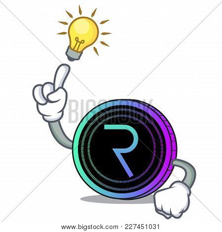 Have An Idea Request Network Coin Mascot Cartoon Vector Illustration