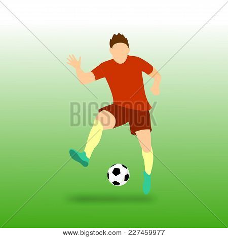 Freestyle Football Soccer Player Vector Illustration Graphic Design