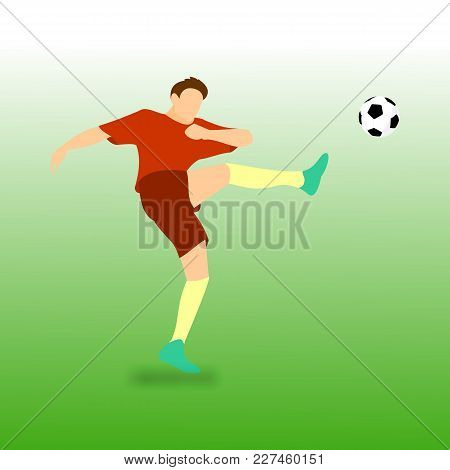 High Kick Football Soccer Player Vector Illustration Graphic Design