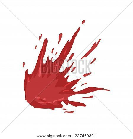 Splattered Blood Stains Vector Illustration Isolated On A White Background.