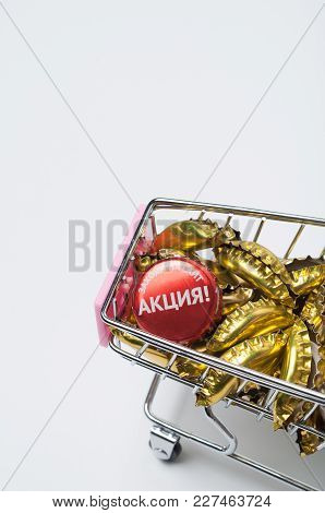 Market Basket, On A White Background On