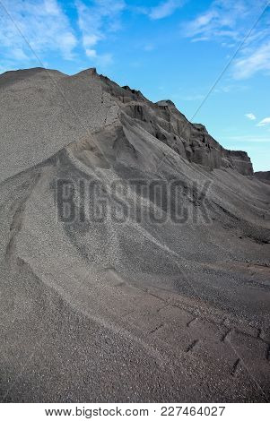 Large Pile Of Mining Ore Dust For Processing