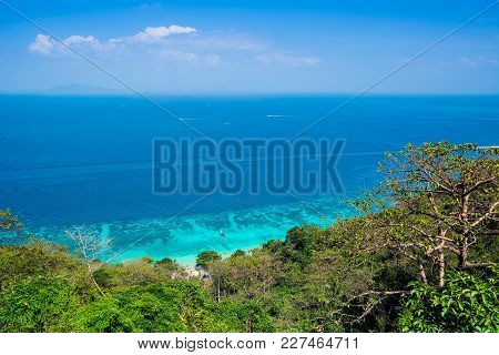 Amazing View Of Beautiful Beach In Koh Phi Phi Don From View Point. Island Koh Phi Phi Don, Krabi, S
