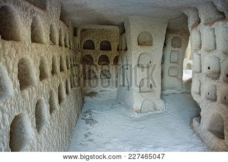 Uchisar/turkey - May 25, 2015: Dovecote Inside, Which Is Made In The Ancient Cave Dwellings Of Peopl