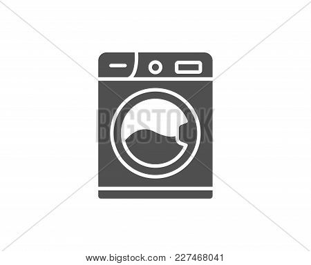 Washing Machine Simple Icon. Cleaning Service Symbol. Laundry Sign. Quality Design Elements. Classic