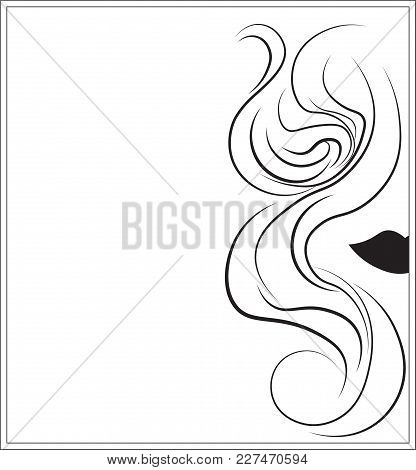 Logo For Hairdressing Salon, The Hairdresser - An Abstract Ringlet Of Hair, A Background