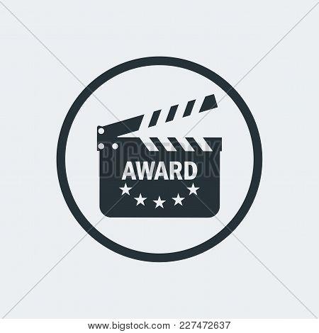 Film Award For Best Film. Movie Theater, Cinematic Award, Movie Premiere. Flat Vector Cartoon Illust