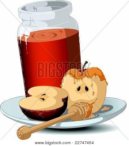 Rosh Hashanah Honey pot en appels