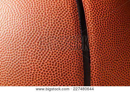 Orange Basketball skin close up