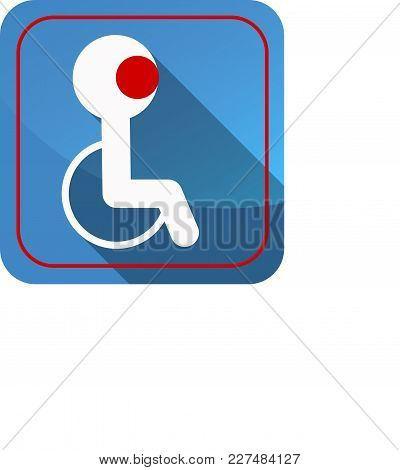 Icon Of A Disabled Person On A Chair