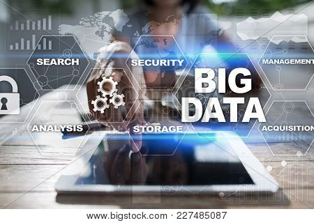 Big Data Technology And Internet Concept On The Virtual Screen