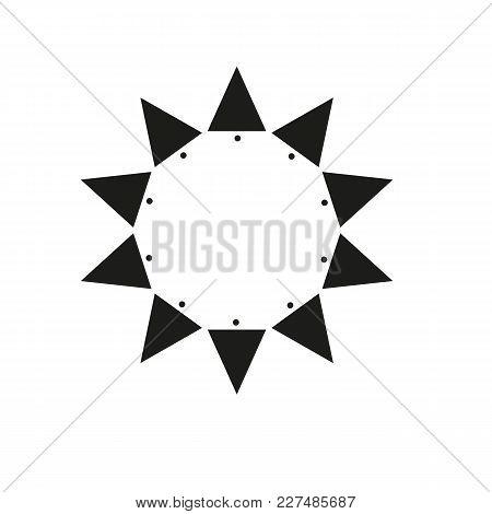 Ten Sides Pointed Star Logo Black Sun Template