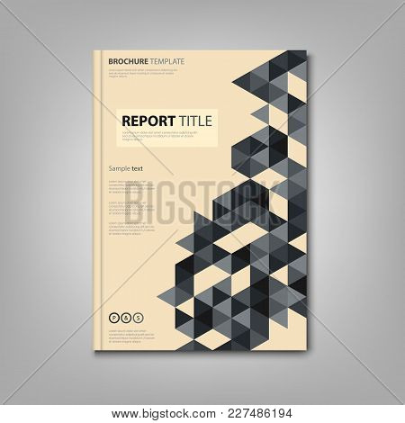 Brochures Book Or Flyer With Small Triangles In Retro Style Vector Eps 10