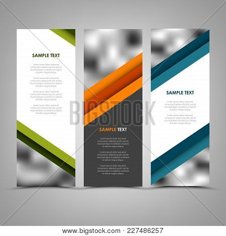 Collection Abstract Banners With Color Helical Stripes Template Vector Eps 10