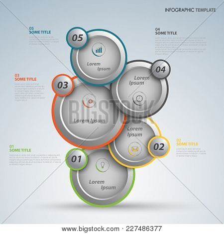 Info Graphic With Abstract Design Round Pointers Template Vector Eps 10