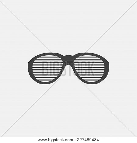 Eyeglasses Icon Vector Illustration. Glasses Icon Vector