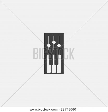 Piano Icon Vector Illustration. Music Icon Vector