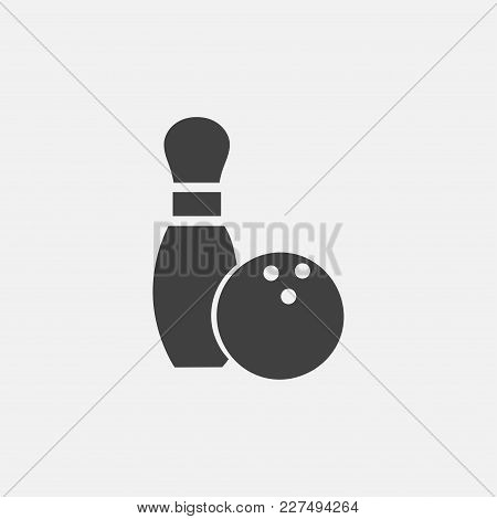 Bowling Icon Vector Illustration. Game Icon Vector