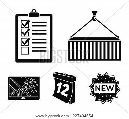 Metal Container, Documents, Waybills, Signature, Calendar, Jps Navigator. Logistic, Set Collection I