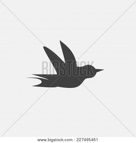 Bird Icon Vector Illustration. Flight Icon Vector