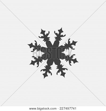 Snow Icon Vector Illustration. Winter Icon Vector