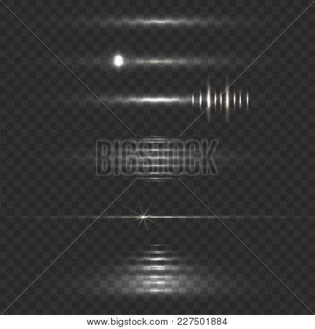 Lens Flare Vector Illustration, Shine Effect, Abstract Lights, Moving Light
