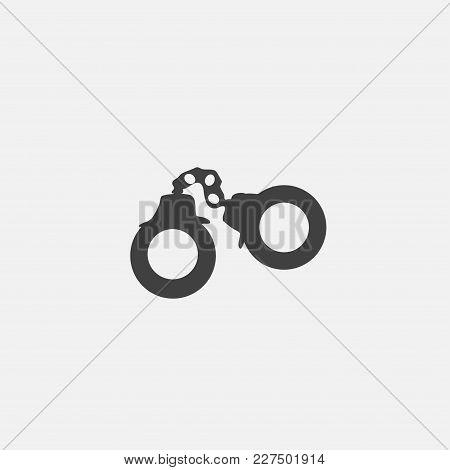 Arest Icon Vector Illustration. Crime Icon Vector