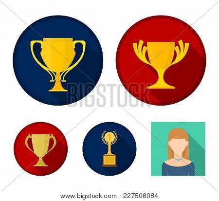 Cup.wineer Cup Set Collection Icons In Flat Style Vector Symbol Stock Illustration .