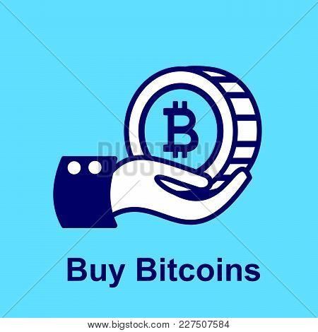 Design Concept Of Cryptocurrency Technology. Exchange - Buy Bitcoins.